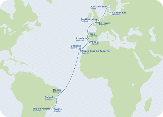 Cruise Deal fra Rio